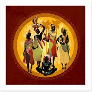 African Art Art Print 297535719