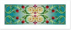 Stained Glass Art Print 314805946