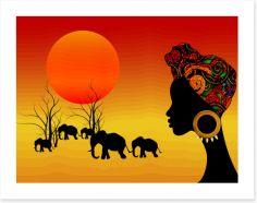 African Art Art Print 322057400