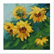 Blossoming sunflowers Art Print 33565665