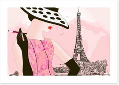 Waiting at the tour Eiffel Art Print 33639999