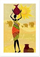 African Art Art Print 34844913