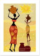 African Art Art Print 34844914