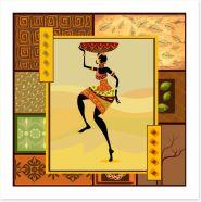Fetching the tribal basket Art Print 34845790