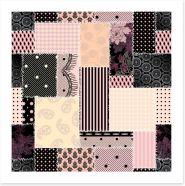Patchwork Art Print 350124736