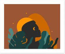 African Art Art Print 368006717