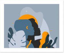 African Art Art Print 381870229