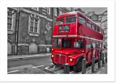 Retro red bus Art Print 38220436