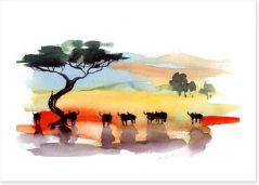 African art Art Print 39762784