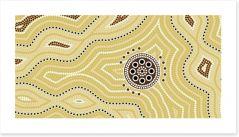 Settlement in the sandy desert Art Print 39941575