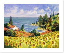 Sunflowers by the sea
