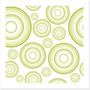 Green retro rings Art Print 40446648