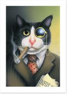 Monacle cat Art Print 41766456