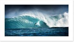 Surfing panorama Art Print 42881573
