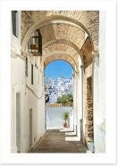 Andalucia archways Art Print 43491003