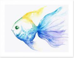 The smiling fish Art Print 43648102