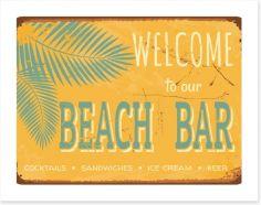 Vintage beach bar Art Print 44063152