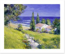 Path to the summer house Art Print 44148560