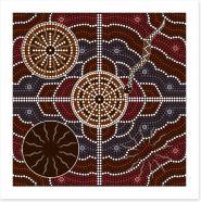 Aboriginal Art Art Print 44440062