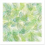 Summer leaves Art Print 44646685
