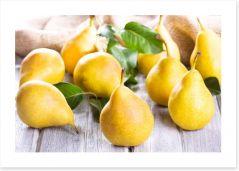Golden pears Art Print 44709988