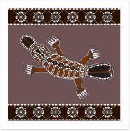 Platypus in the creek Art Print 44824162