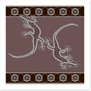 Outback lizzards Art Print 44836236