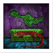 The red lizard Art Print 44873517