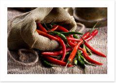 Chili pepper still life
