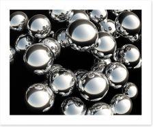 Silver balls Art Print 45870995