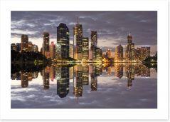 Brisbane city reflections Art Print 46583774