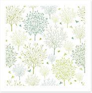 Fresh green spring Art Print 47439203