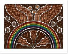 Rainbow over the creek Art Print 47526234