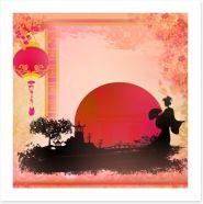 Pagoda sunset