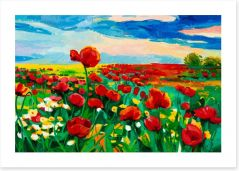 Poppy fields Art Print 48240226