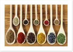 Spoons of spice Art Print 48315944