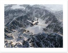 Over the snowy range Art Print 48771633