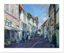 The village high street Art Print 48922204