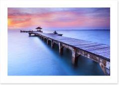 Dusk at the jetty Art Print 49024186