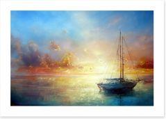 Sail boat seascape