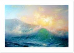 Seascape surf Art Print 49140911