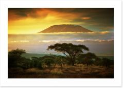 Mount Kilimanjaro in Amboseli, Kenya