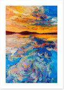 Golden seascape Art Print 49522845