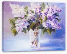 Lilacs in a vase Stretched Canvas 49607030