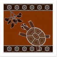 Turtle and leaves Art Print 49657016