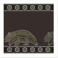 Wandering wombat Art Print 49657576
