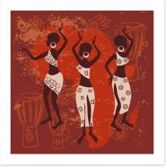 Tribal dance Art Print 49831151