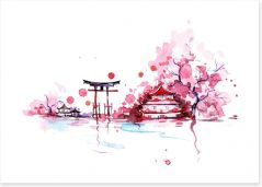 Springtime in Japan Art Print 49925306