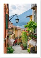 Village street in Lake Como, Italy Art Print 49988155