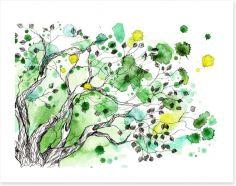 Spring splatter tree